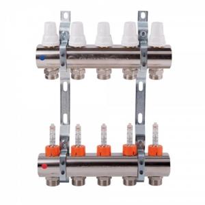 Коллектор с расходомерами, регулировка ручная или терморегулирующая ICMA K013