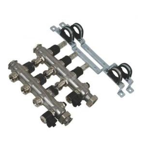 Гребенка из нержавеющей стали Oventrop 1-4 л/мин с расходомерами
