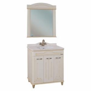 Мебель для ванной Bellezza Аллегро Люкс 80 бежевая патина золото