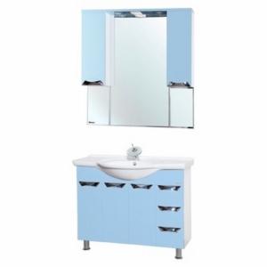 Мебель для ванной Bellezza Белла Люкс 105 голубая