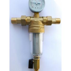 Механический Фильтр Тим с манометром для холодной воды